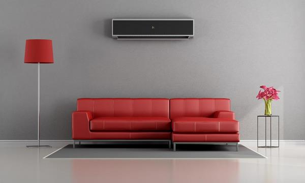Кондиционер над диваном